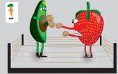 Food Fights: Strawberry vs. Avocado