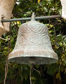 picture of playa del carmen  - Antique wrought iron bell in mexican village of Playa del Carmen - JPG