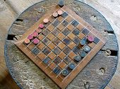 Antique Checker Board