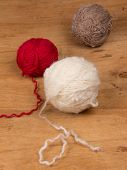 Varicolored Balls Of Yarn
