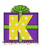 Alphabet Birthday Box K