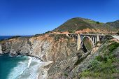 The Bixby Bridge (3) on the Pacific Cost highway.