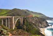 The Bixby Bridge (1) on Route 1 in California.