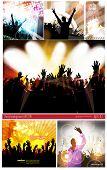 Big set of concert poster, Vector