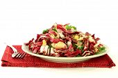 stock photo of chives  - Gourmet Salad mixed chopped Fresh bulbs of Radicchio  - JPG