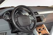 steering wheel in the passenger car