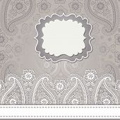 Cute Design Template.paisley Border Lace