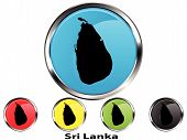 Glossy vector map button of Sri Lanka