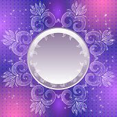 Violet vintage vector abstract background