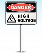 Vector High Voltage Sign