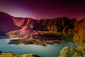 picture of gunung  - Crater of Gunung Rinjani volcano Lombok island Indonesia - JPG