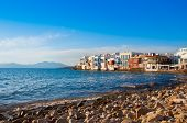 Little Venice On island of Mykonos  At Sunset...