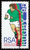 Postage Stamp South Africa 1995 Player Running With Ball