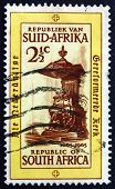 Postage Stamp South Africa 1965 Pulpit, Groote Kerk Church