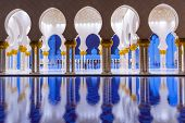 ABU DHABI, UAE - MARCH 27: Sheikh Zayed Grand Mosque in Abu Dhabi on March 27, 2014, UAE. Grand Mosq
