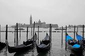 Gondolas in front of San Giorgio Maggiore