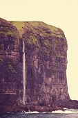 Waterfall  of Faroe islands