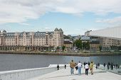 Oslo, Norway - July 2013: View Across the Oslo Opera House
