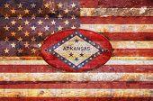 Wooden Flag Of Arkansas.