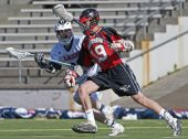High School Boys Varsity Lacrosse eye on the ball