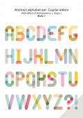 Abstract alphabet set - Capital letters ( 10eps ) style 1