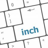 Inch Button On Keyboard - Business Concept