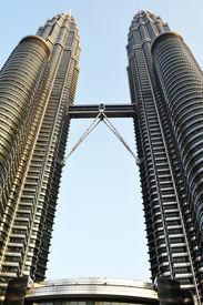 foto of petronas towers  - A view of Petronas Tower - JPG