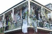 Haunted Halloween Decorations On Bourbon Street