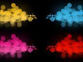 Abstract Colorful Bokeh Circles