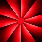 A Red Fan On Dark Background