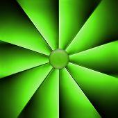 A  Green Fan On Dark Background