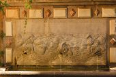 Alhambra Wall Garden Fish Monsters Fountain Granada Andalusia Spain