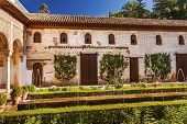 Generallife Alhambra White Palace Fountain Garden Granada Andalusia Spain