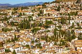 Alhambra White Buildings Cityscape Churches Albaicin Carrera Del Darrogranada Andalusia Spain