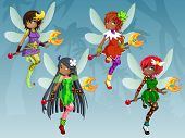 Elf Girls Holding Scepter