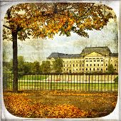 autumn in Dresden - vintage cards series