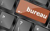 Bureau Word On Computer Keyboard Key