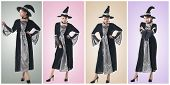 Collection of Asian witch with several pose.