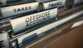 image of offshoring  - Folder tabs with focus on offshore account tab - JPG