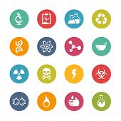 Science Icons // Fresh Colors Series ++ Icons and buttons in different layers, easy to change colors ++