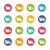 Folder Icons - 2 // Fresh Colors Series ++ Icons and buttons in different layers, easy to change col