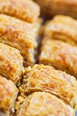 Turkish Baklava,also Well Known In Middle East, Close Up.