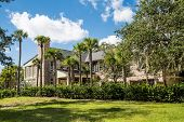 picture of mansion  - A nice brick mansion in the tropics under beautiful skies - JPG