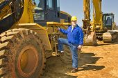 Construction Worker And Equipment