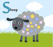 Animal alphabet for the kids: :S for the Sheep