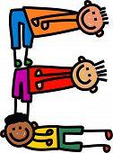 Letter E Kids