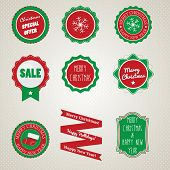 Badges for Christmas and New Year