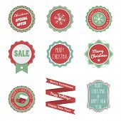 Flat Badges for Christmas and New Year