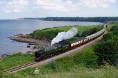 Steam Train on South Devon Coast