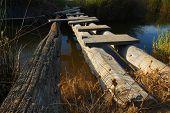 Improvised wooden bridge